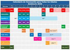 Calendario de vacunaciones 2020